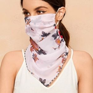 Accessories - RESTOCKED Floral Print Scarf Face Mask